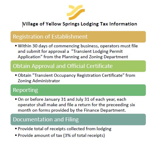 Lodging tax information
