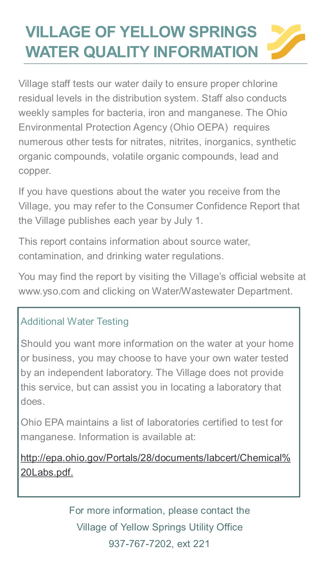 Village Water Quality